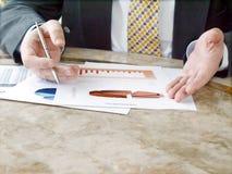 biznesmen mapy Fotografia Stock