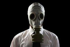 biznesmen maski gazowe nosić Fotografia Royalty Free