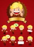 biznesmen maskotka royalty ilustracja