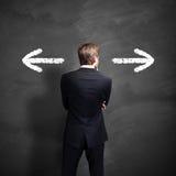 Biznesmen musi decydować który sposób iść Obraz Stock