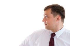 Biznesmen na biel obraz royalty free