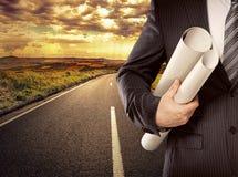 Biznesmen na drodze Obraz Stock