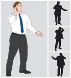 Biznesmen na komórce 4 Zdjęcie Stock