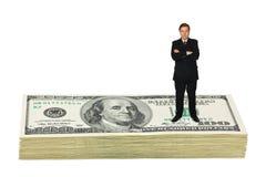 Biznesmen na pieniądze zdjęcie royalty free