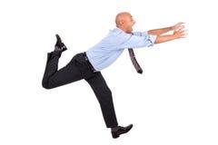 Biznesmen na pościg zdjęcie stock