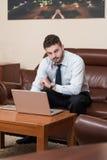 Biznesmen Na przerwie Z Jego komputerem obrazy stock