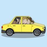 Biznesmen na samochodowym części pojęciu Fotografia Stock