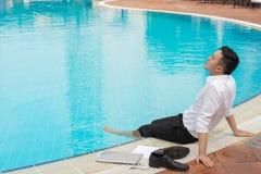 Biznesmen na wakacje Obrazy Stock