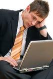 biznesmen nieszczęśliwy zdjęcie stock