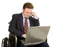 biznesmen nomenklatury niepełnosprawnych, Zdjęcie Royalty Free