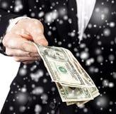 Biznesmen ofiary pieniądze Fotografia Stock