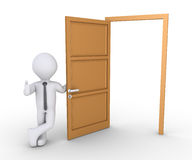 Biznesmen ofiary sposób przez drzwi Obraz Royalty Free
