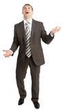 Biznesmen żongluje niewidzialne rzeczy Fotografia Royalty Free