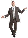 Biznesmen żongluje niewidzialne rzeczy Obrazy Royalty Free