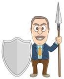 Biznesmen - opiekun royalty ilustracja