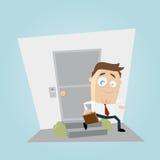 Biznesmen opuszcza domowego clipart Obraz Stock