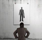 Biznesmen patrzeje ludzi ikon Zdjęcie Stock