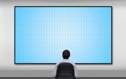 Biznesmen patrzeje osocze panel Zdjęcia Stock
