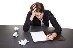 Biznesmen - pisarza blok Obraz Stock