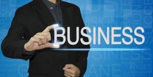 Biznesmen pisze biznesowym pojęciu obraz royalty free