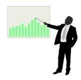 Biznesmen pokazuje prezentację Zdjęcia Stock