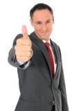 Biznesmen pokazywać aprobaty zdjęcia royalty free