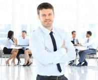 Biznesmen pozycja Fotografia Stock