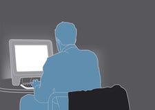 Biznesmen praca ilustracji