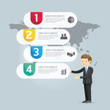 Biznesmen prezentacja ilustracyjny Infographic projekt ilustracja wektor