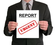biznesmen prezentacji sprawozdania Obraz Royalty Free