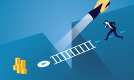 Biznesmen Przyglądająca synklina Powiększa - szkło Zdjęcie Stock