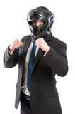 Biznesmen przygotowywający dla przejęcia Zdjęcie Stock