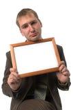 biznesmen pusta rama obrazy stock