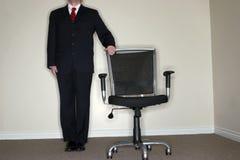 biznesmen puste krzesło fotografia royalty free