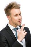 Biznesmen ręki armatni gestykulować Zdjęcie Royalty Free