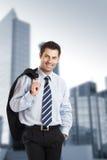 biznesmen radosny Zdjęcia Stock
