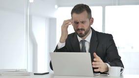 Biznesmen Reaguje Biznesowa strata, pieniądze zdjęcie wideo
