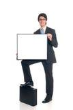 biznesmen reklamy Fotografia Stock