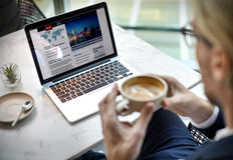 Biznesmen Relaksuje Kawowej przerwy pojęcie obrazy royalty free
