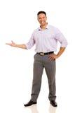 Biznesmen robi mile widziany gestowi Zdjęcie Royalty Free