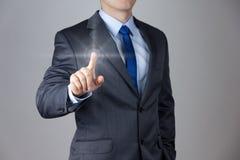 Biznesmen robi prawej decyzi Zdjęcia Stock