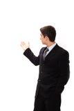 biznesmen robi prezentaci obraz royalty free