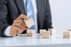 Biznesmen robi wierza Zdjęcie Stock