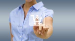 Biznesmen robi zakupy online Zdjęcie Royalty Free