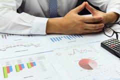 Biznesmen robi Zbiorczego raportu rozkazu planu finanse Zdjęcie Stock