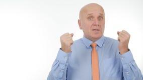 Biznesmen rozmowa i Gestykuluje w Biznesowym wywiadzie zdjęcia royalty free