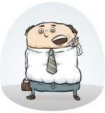 Biznesmen rozmowa telefonicza ilustracji