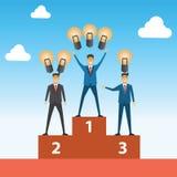 Biznesmen rywalizacja porównuje z zwycięzcą dostawał więcej pomysłu th ilustracja wektor
