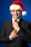 biznesmen Santa Fotografia Stock