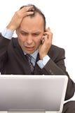 biznesmen się martwić Zdjęcie Stock